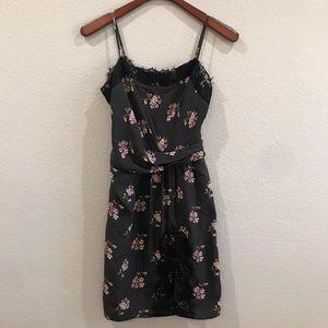 Victoria's Secret floral satin lace dress size 8